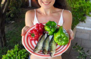 sardinha e pimentos