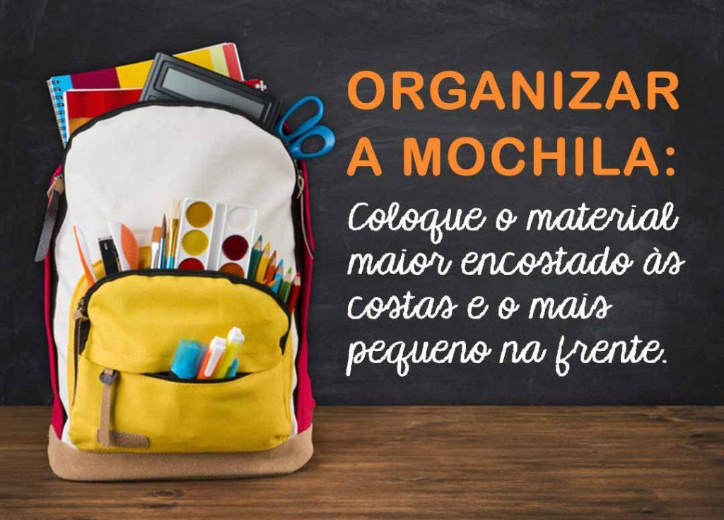 Como organizar a mochila